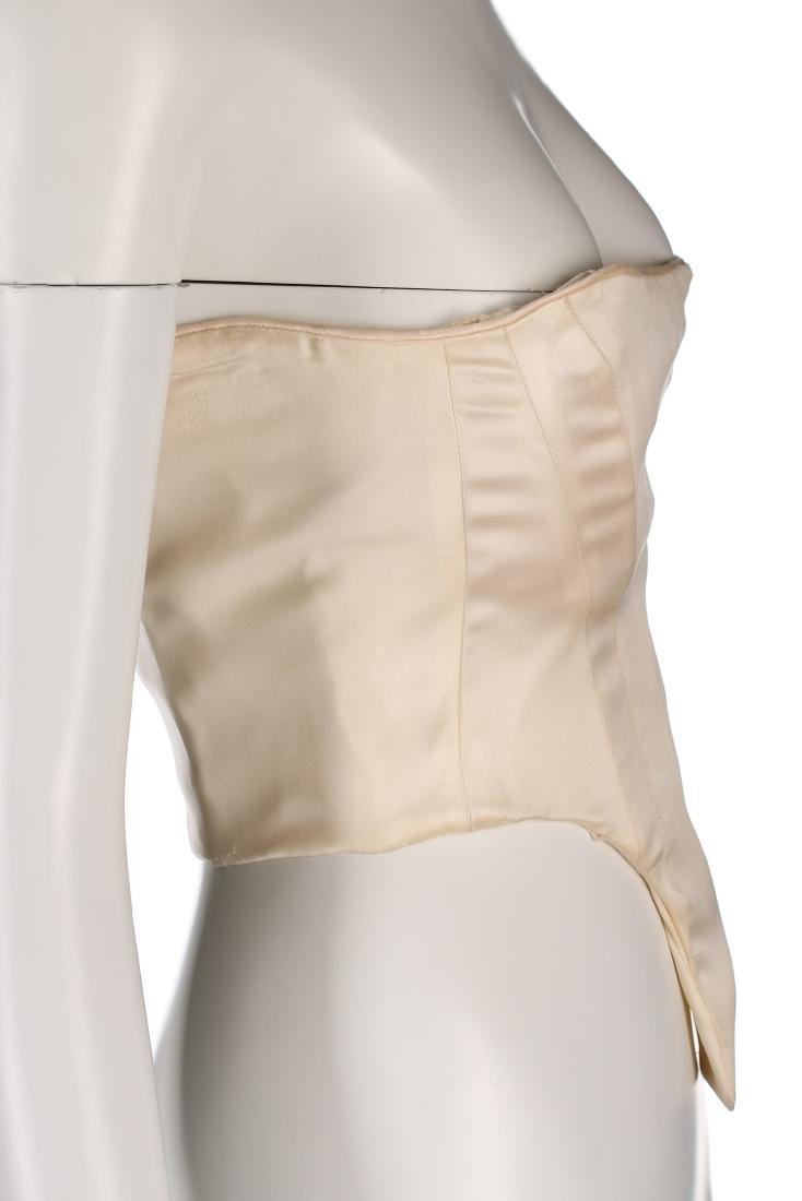A rare John Galliano ivory satin corset-bodice, 'Olivia - 4