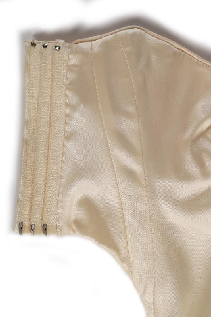 A rare John Galliano ivory satin corset-bodice, 'Olivia - 6