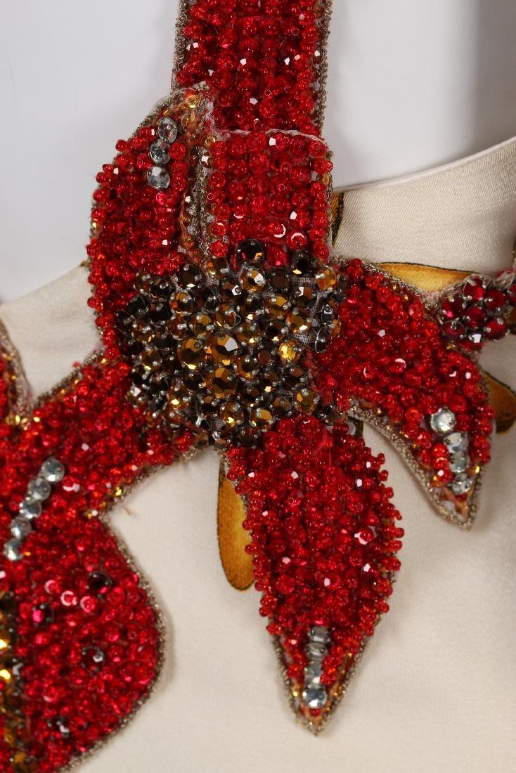 A rare Gianni Versace printed silk and beaded 'Sea - 5