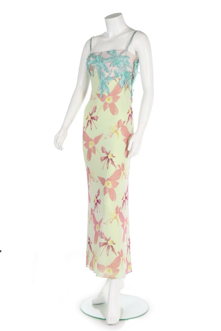 A Versace printed tulle evening gown, Spring-Summer