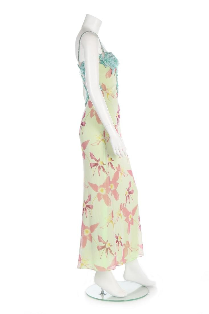 A Versace printed tulle evening gown, Spring-Summer - 2