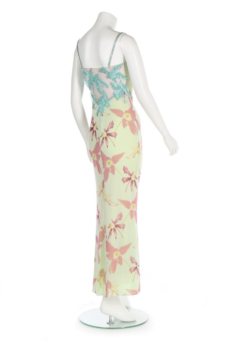 A Versace printed tulle evening gown, Spring-Summer - 3