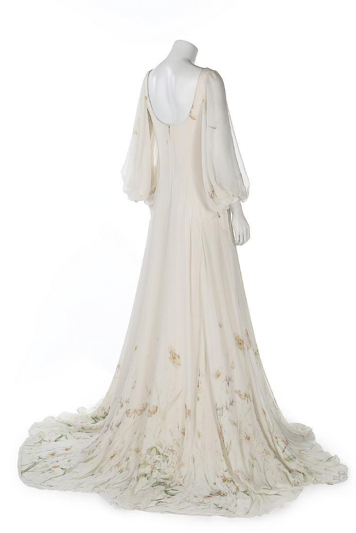 An Alexander McQueen romantic white chiffon gown, - 2