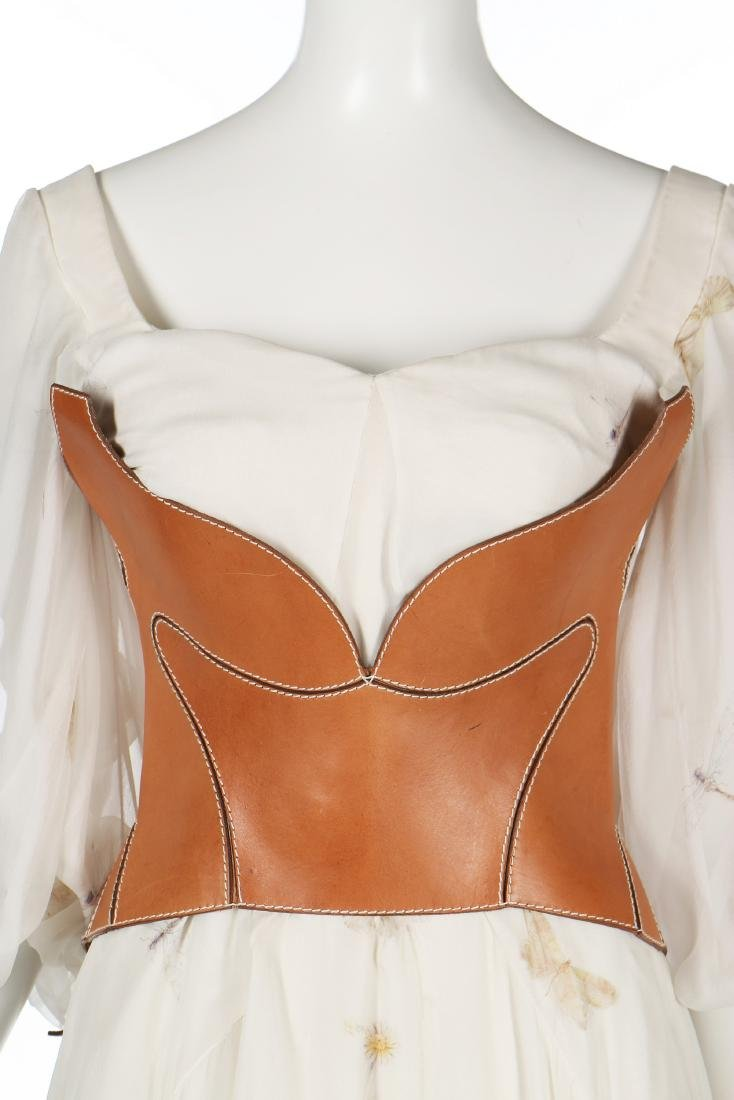 An Alexander McQueen romantic white chiffon gown, - 3