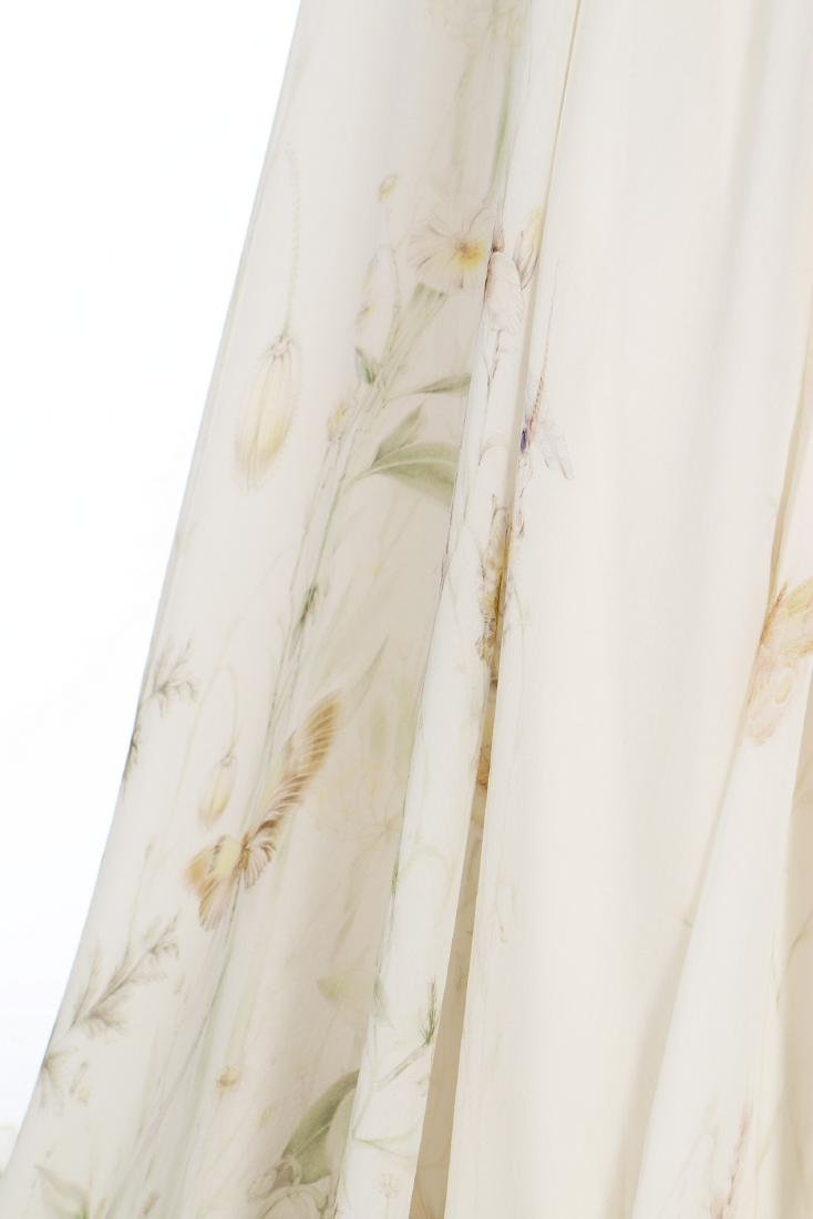 An Alexander McQueen romantic white chiffon gown, - 4