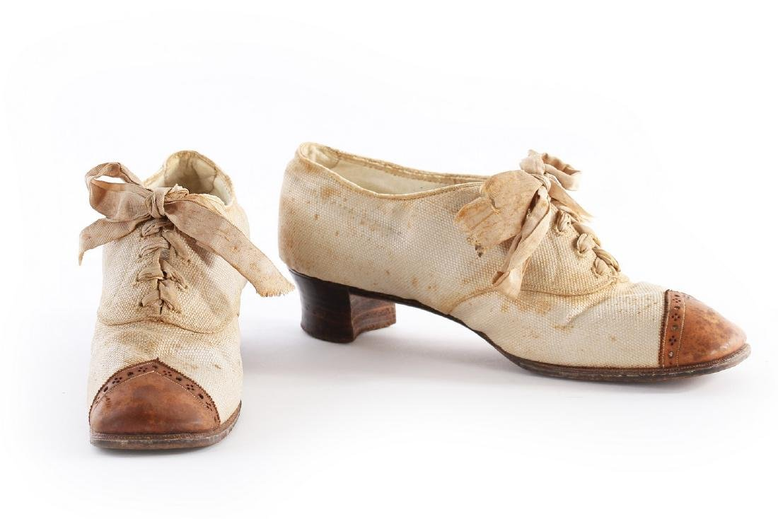 Empress Eugenie's summer brogues, 1870s, with Hook,
