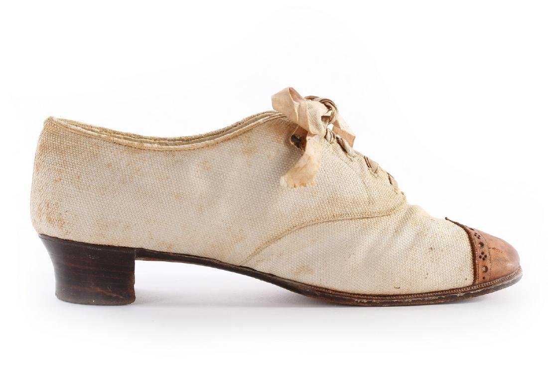 Empress Eugenie's summer brogues, 1870s, with Hook, - 2