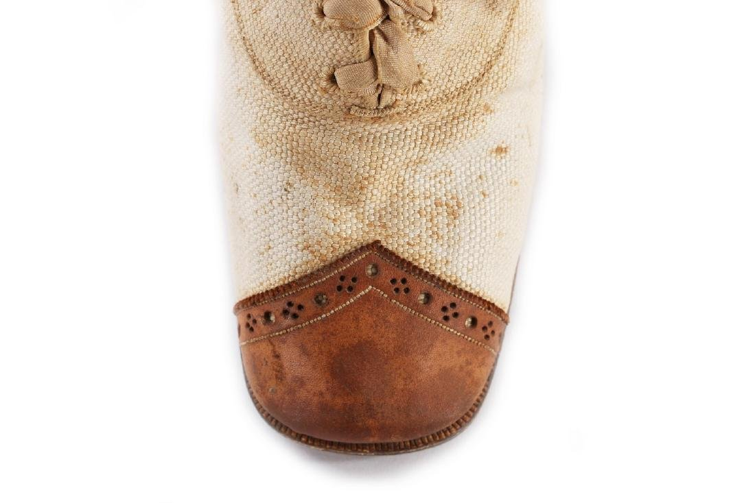 Empress Eugenie's summer brogues, 1870s, with Hook, - 3