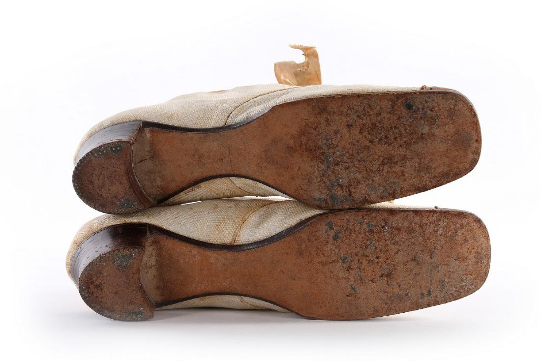 Empress Eugenie's summer brogues, 1870s, with Hook, - 8