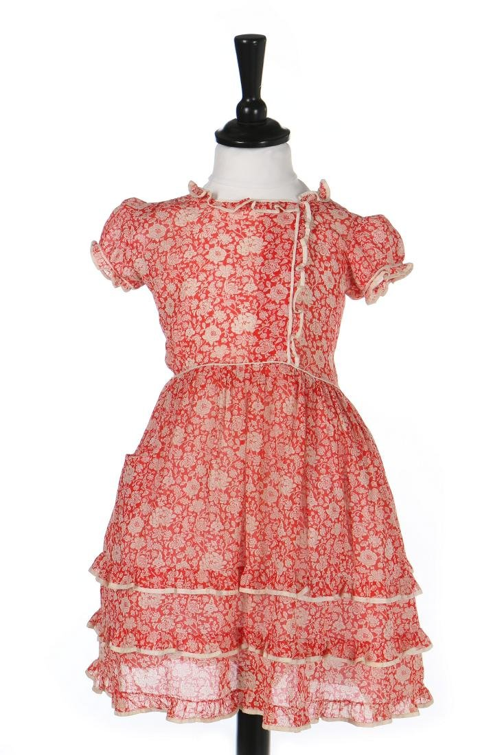 Princess Elizabeth's red and white printed lawn day