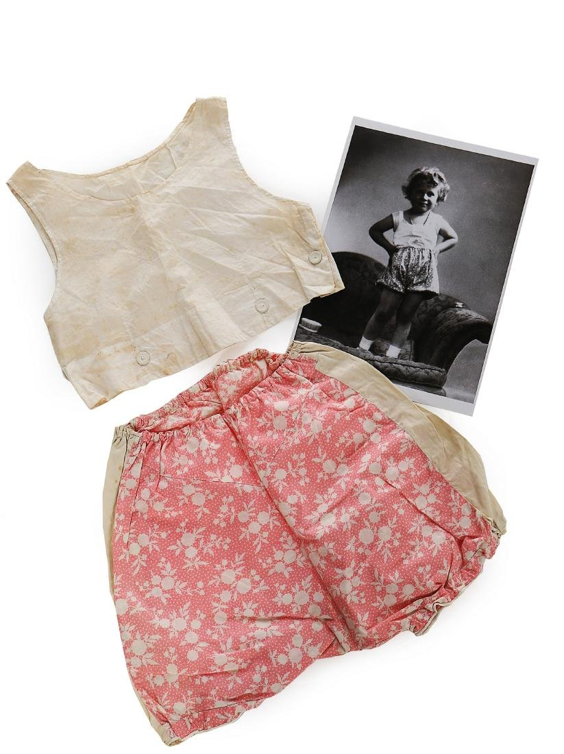 Princess Elizabeth's baby vest and printed cotton