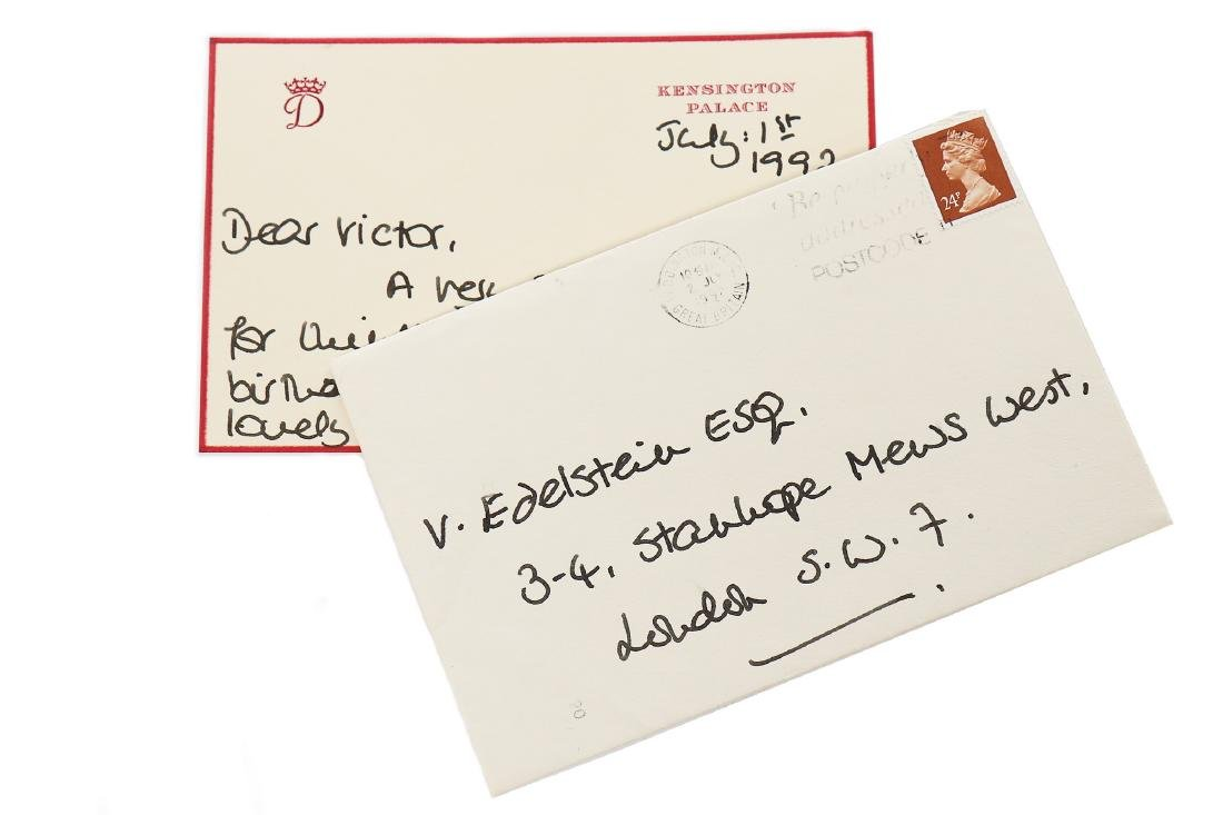 The Victor Edelstein Archive: Card from Princess Diana,
