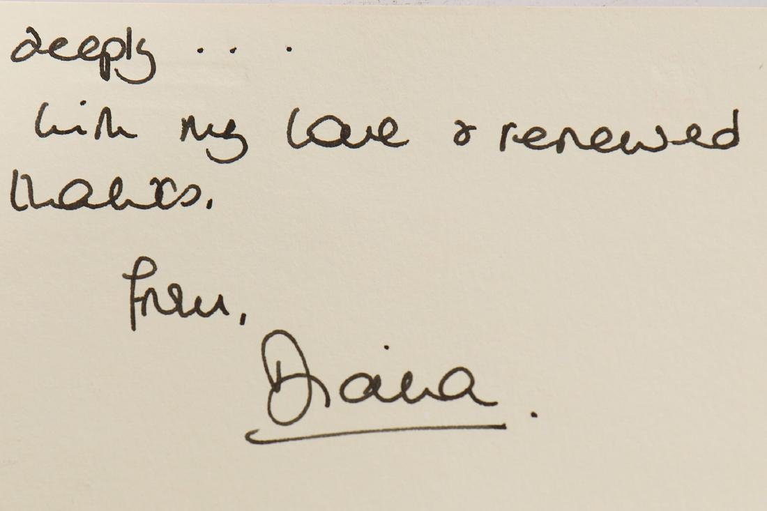 The Victor Edelstein Archive: Card from Princess Diana, - 4