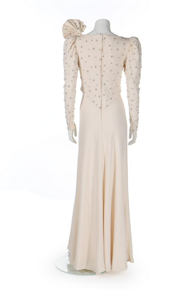Princess Diana's fine and rare Emanuel ivory silk moss - 3