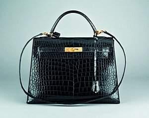 An Hermès black crocodile Kelly bag, French, 1980s,