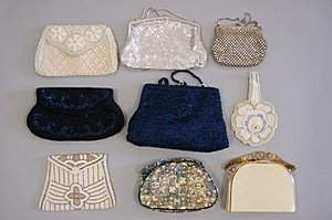 A group of evening/vanity bags 1930s-50s, including