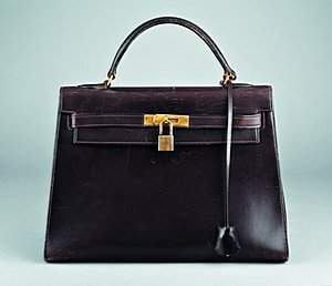 An Hermès chocolate brown leather Kelly bag, French