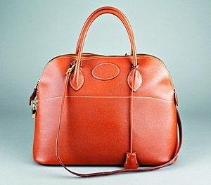 11: An Hermès 'Bolide' tan leather handbag, circa 1980,