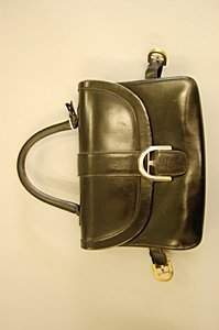 A Delvaux black leather handbag, late 1960s-early 1