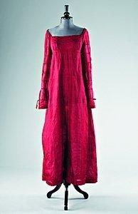 53: A fine burgundy silk gauze dress circa 1810-15, wit