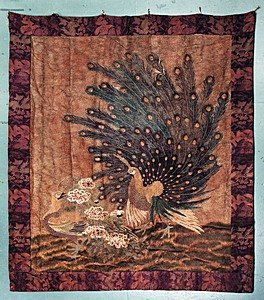 269: A large and impressive embroidered wall hanging, J