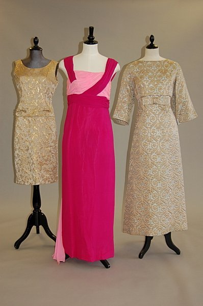 1008: A group of evening wear, 7 ensembles including bl