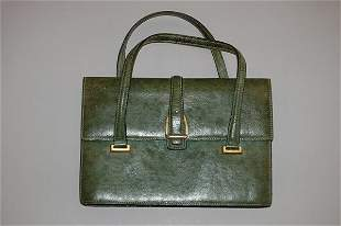 1012: A Gucci olive-green pigskin handbag, 1960s, sta