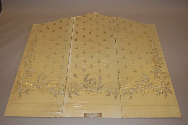 2002: Three screen panels covered in satin taken from a