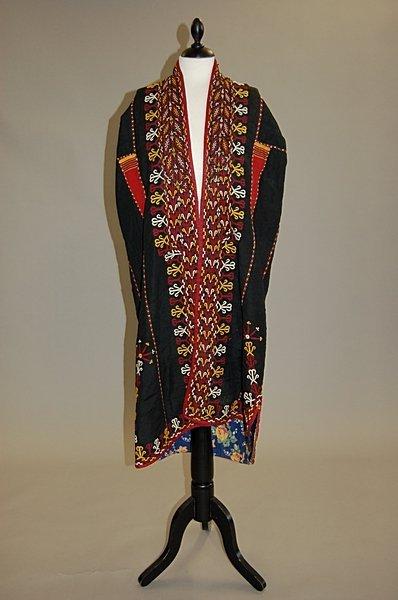 2003: A Tekke young girl's coat (chyrpe) of black silk,