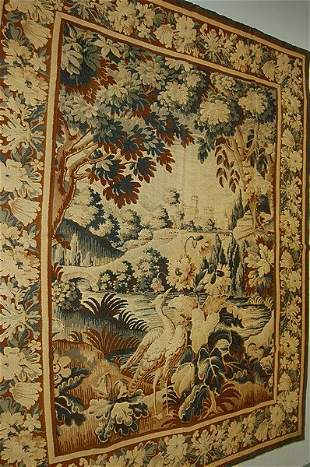 A printed `tapestry', early 20th century in 18th
