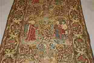 A printed tapestry-effect gothic patterned curtai