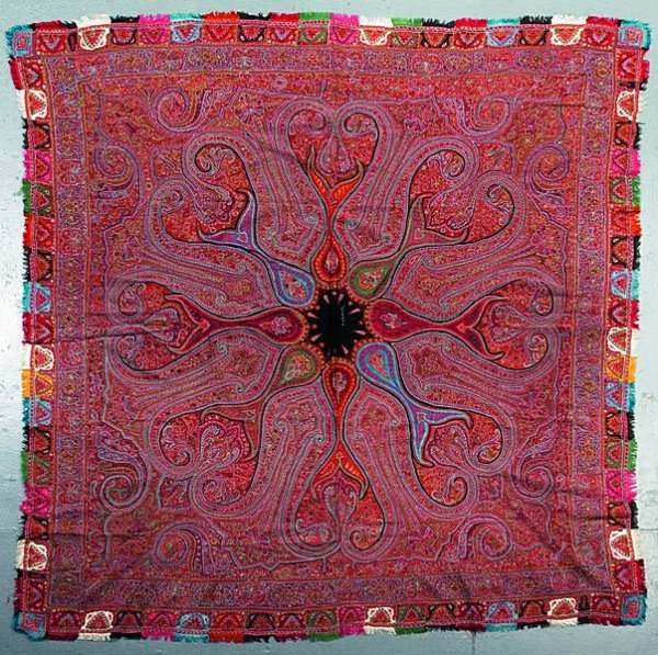 2011: A fine woven and embroidered kashmir shawl, circa