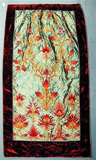 An Arts & Crafts movement embroidered panel, prob