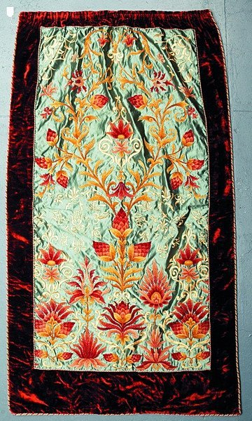2014: An Arts & Crafts movement embroidered panel, prob