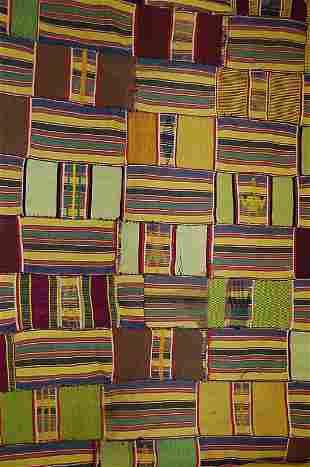 A fine Ewe cloth, Ghana, 20th century, the joine