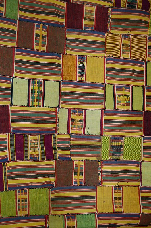 2021: A fine  Ewe cloth, Ghana, 20th century, the joine