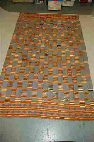 An Ewe cloth, Ghana, 20th century, the indigo blu