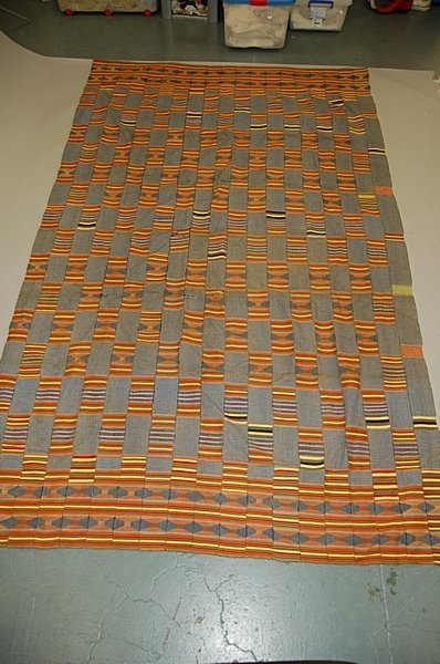 2023: An Ewe cloth, Ghana, 20th century, the indigo blu