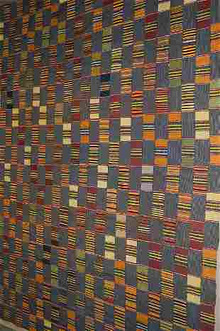 An Ewe man's cloth, Ghana, 20th century, the indi
