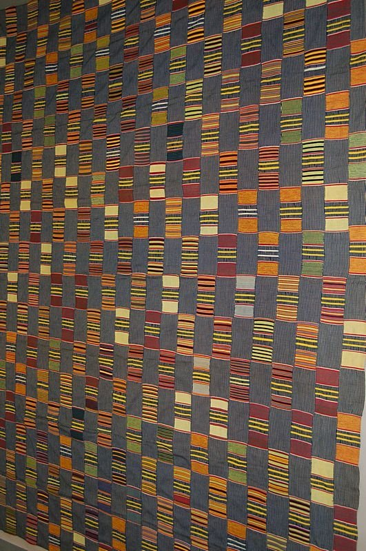 2024: An Ewe man's cloth, Ghana, 20th century, the indi