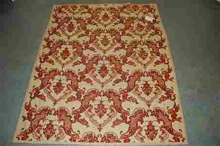 2252: A crewel-worked bedcover in 18th century style, b