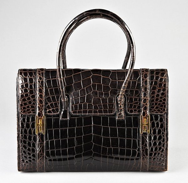 4: A fine Hermes chocolate brown `Drage' handbag, Frenc