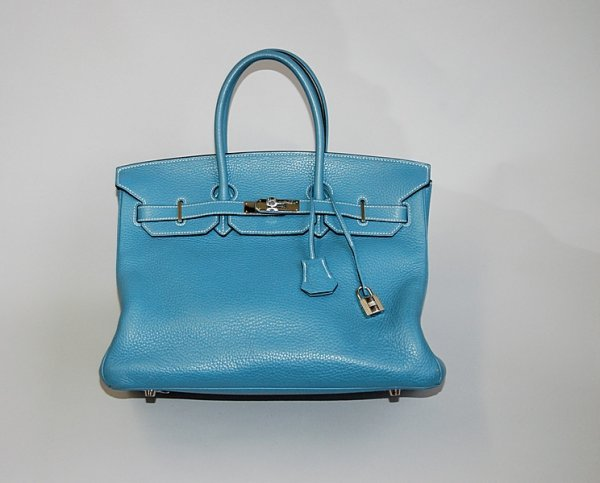 16: An Hermès Birkin of  blue-jean toga leather, modern