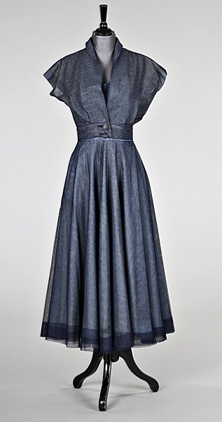 51: A Schiaparelli blue tulle dinner gown and matching - Dec 13, 2007   Kerry Taylor Auctions in United Kingdom