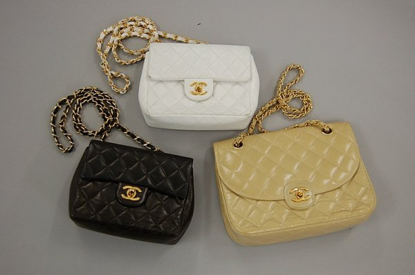 2010: Three Chanel quilted leather shoulder bags, 1980s