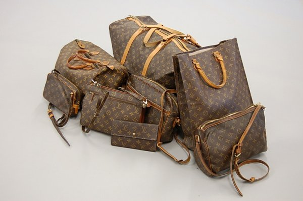 2011: A group of Louis Vuitton monogrammed soft luggage
