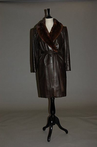 2014: An Yves Saint Laurent Fourrures brown leather and