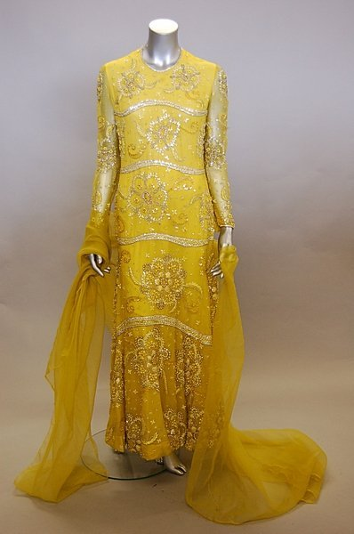 2239: A Christian Dior Paris elaborately embroidered