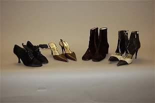 Chanel footwear, comprising: brown pony hide ankle b