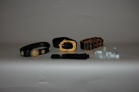 A Group Of Chanel Accessories, Including A Black Sue
